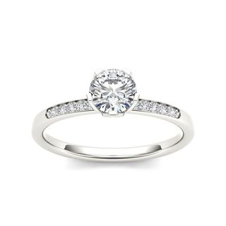 De Couer 14k White Gold 1/2ct TDW Diamond Classic Engagement Ring (H-I, I2)