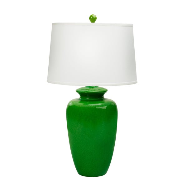 Fangio Lighting Jewel Green Ceramic Table Lamp