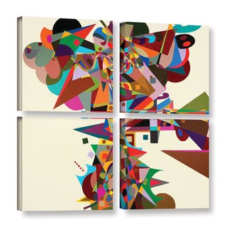 ArtWall Allan Friedlander 'Atherton' 4 Piece Gallery-wrapped Canvas Square Set