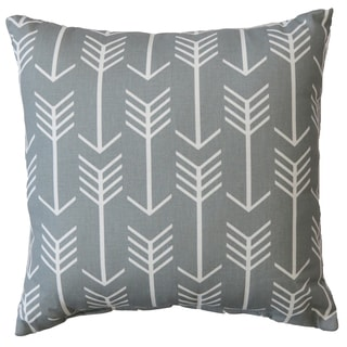 Premiere Home Arrow Cool Grey 17x17 Throw Pillow