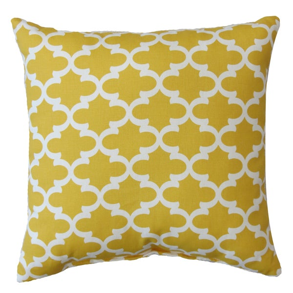 Premiere Home Fulton Corn Yellow 17x17 Throw Pillow