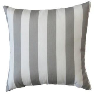 Premiere Home Grey Stripes 17x17 Throw Pillow