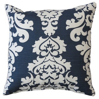 Premiere Home Damask Navy 17x17 Throw Pillow