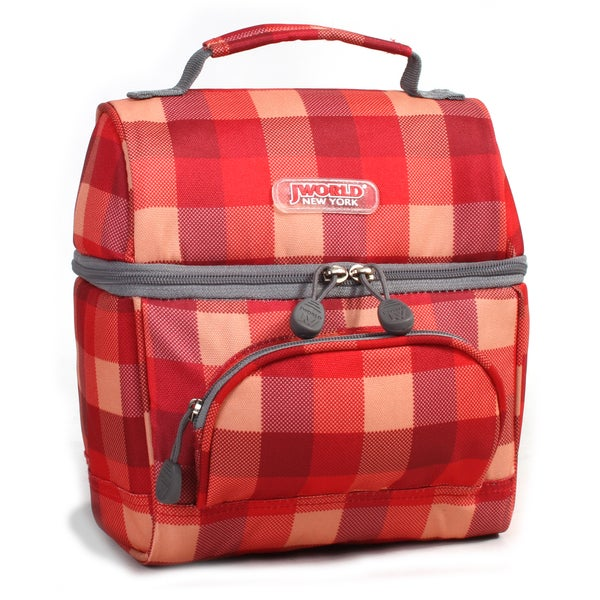 J World Check Red Corey Lunch Bag