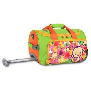 J World Monkey II Kids 17-inch Rolling Duffel Bag