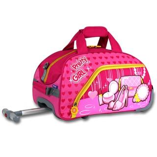 J World Pretty Girl Kids 17-inch Rolling Duffel Bag