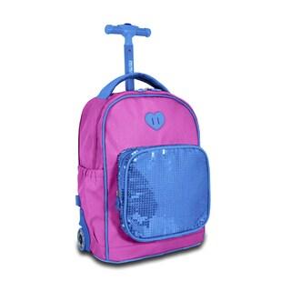 J World Sparkle Kids 15-inch Rolling Backpack