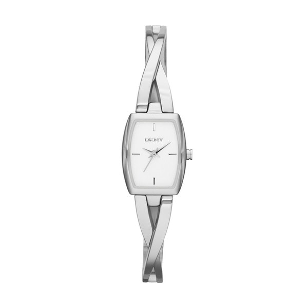 DKNY Women's Crosswalk White Dial Polished Stainless Steel Bracelet Watch NY2234