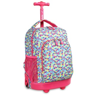 J World Floret Sunny 17-inch Rolling Backpack