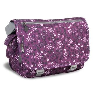J World Garden Purple Terry Messenger Bag