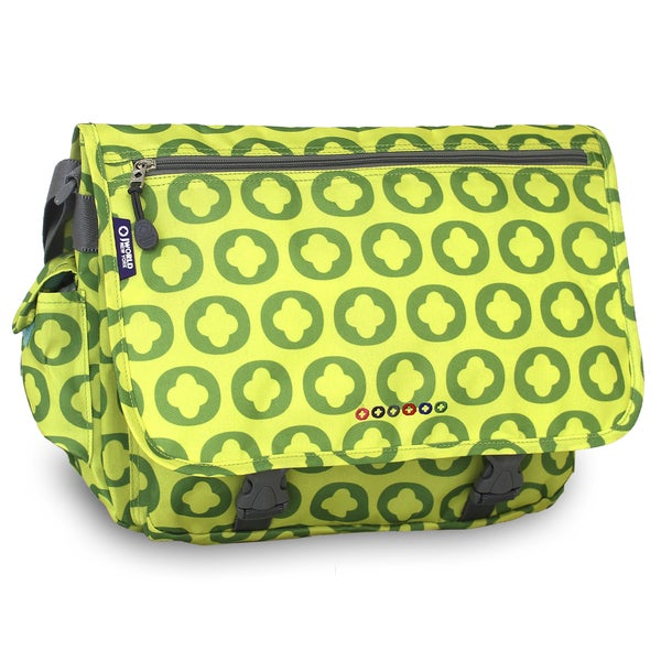 J World Lime Logo Terry Messenger Bag