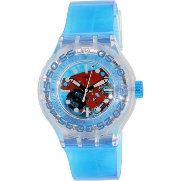 Swatch Unisex SUUK103 'O-Tini' Blue Plastic Watch