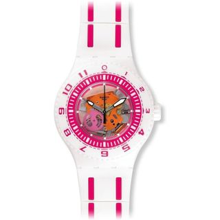 Swatch Unisex SUUW101 'Feel The Wave' Pink Silicone Watch