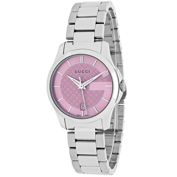 Gucci Women's YA126524 'G-Timeless' Stainless Steel Watch