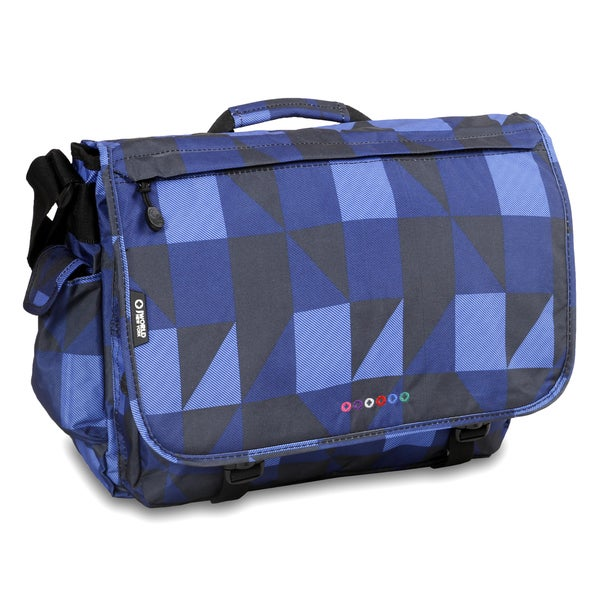 J World Block Navy Thomas 15.4-inch Laptop Messenger Bag