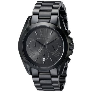 Michael Kors Unisex Chronograph Black Stainless Steel Bracelet Watch MK5550