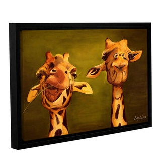 ArtWall Lindsey Janich 'Giraffe Buddies' Gallery-wrapped Floater-framed Canvas