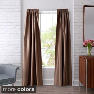 Heritage Landing Faux Silk Blackout 84-inch Curtain Panel pair