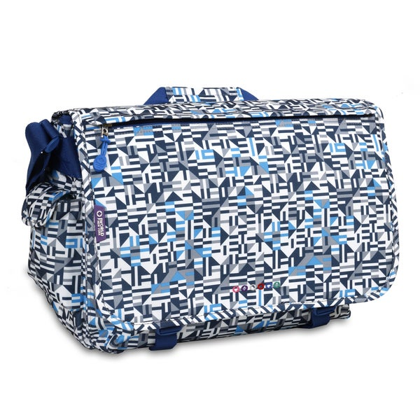 J World Geo Blue Thomas 15.4-inch Laptop Messenger Bag