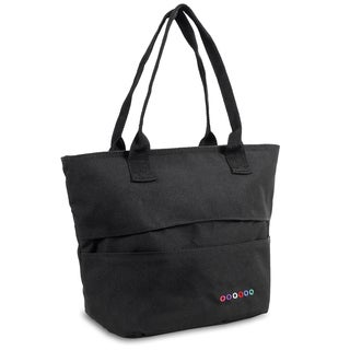 J World Black Lola Insulated Lunch Tote Bag