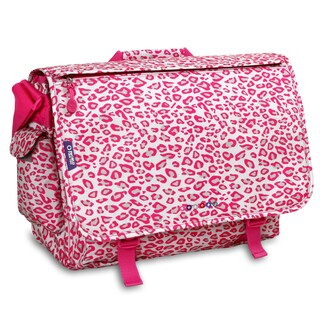 J World Pink Leopard Thomas 15.4-inch Laptop Messenger Bag