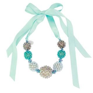 Saachi Beaded Balls Ribbon Necklace (China)