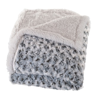 Windsor Home Plush Flower Fleece Sherpa Throw Blanket