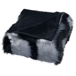 Windsor Home Luxury Long Haired Striped Faux Fur Throw