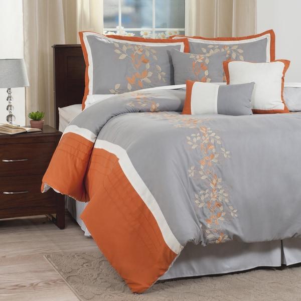 Windsor Home Autumn 7 Piece Embroidered Comforter Set