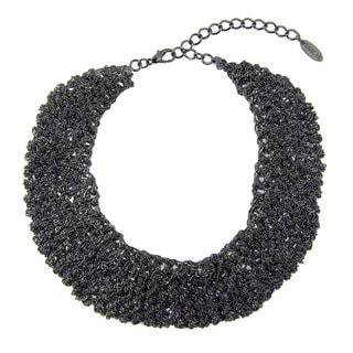 Saachi Crochet Chain Bib Necklace (China)