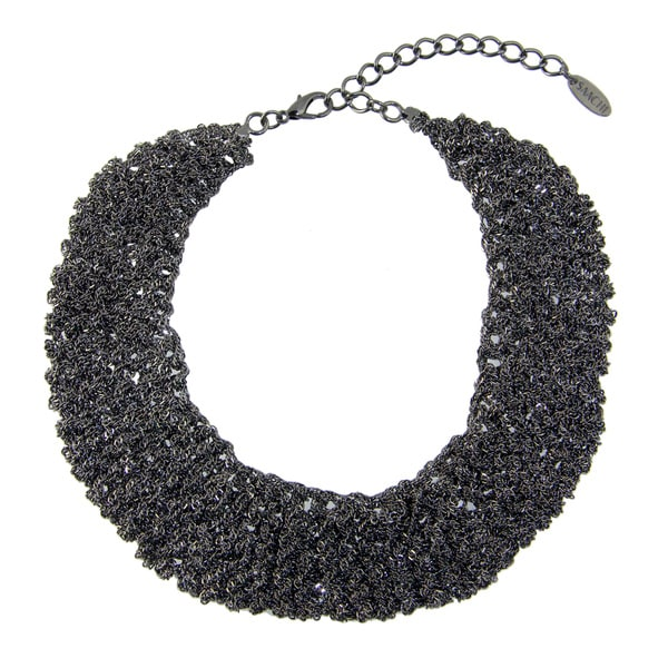 Saachi Crochet Chain Bib Necklace (China)
