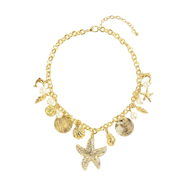 Saachi Ocean Charm Statement Necklace (China)