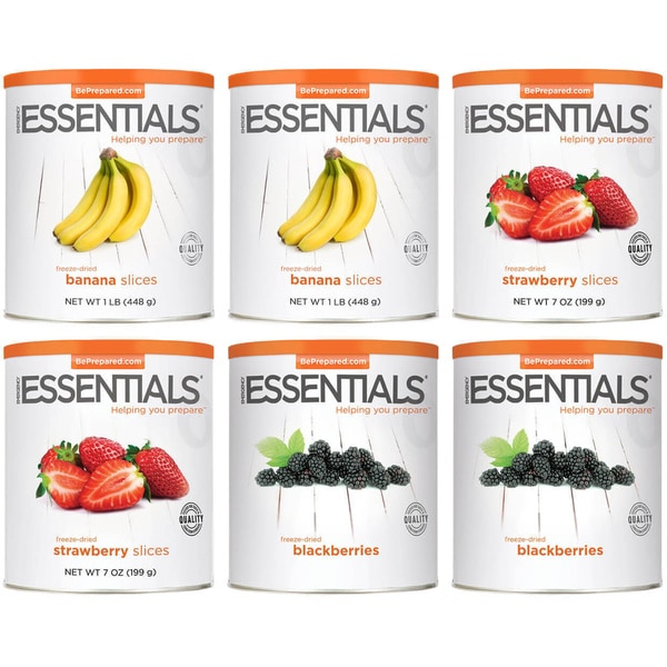 Emergency Essentials Freeze-Dried Fruit Paradise Combo (6 cans)