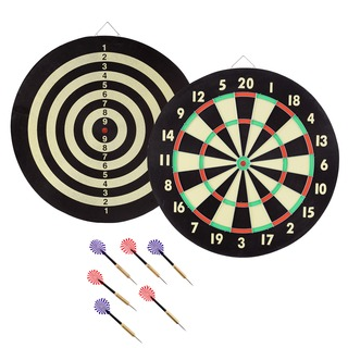 Game Room Dart Set with 6 Darts and Board by Trademark Gameroom