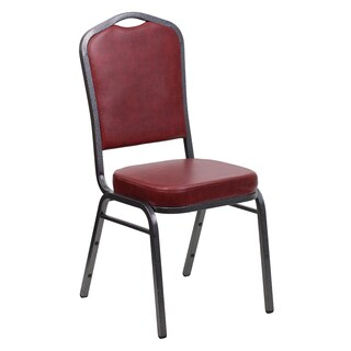 Alpinia Burgundy Upholstered Stack Dining Chairs