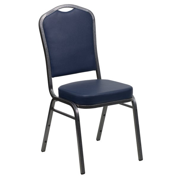 Alpinia Blue Upholstered Stack Dining Chairs