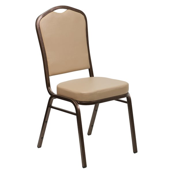Jaca Tan Upholstered Stack Dining Chairs