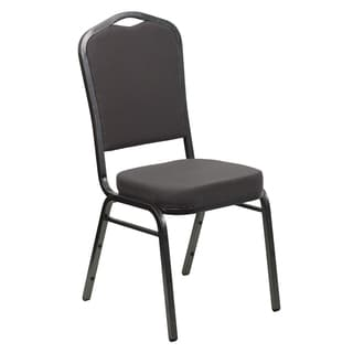 Decor Gray Upholstered Stack Dining Chairs
