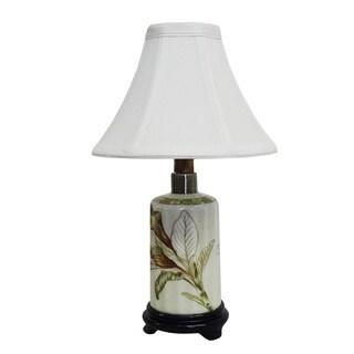 Autumn Lotus Small Bottle Porcelain Lamp