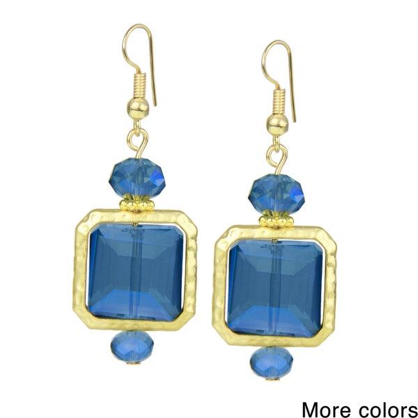 Saachi Glass Bead Square Drop Earrings (China)