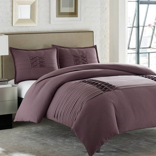 City Scene Triple Diamond Amethyst 3-piece Comforter Set