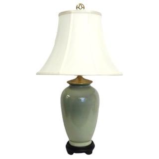 Solid Light Celadon Porcelain Table Lamp