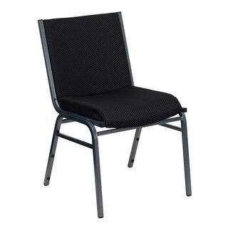 Santem Black Upholstered Stack Dining Chairs