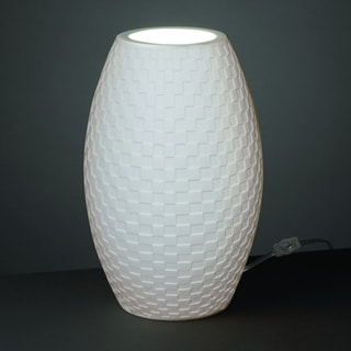 Justice Design Group Limoges Tall Egg Accent Lamp, Checkerboard