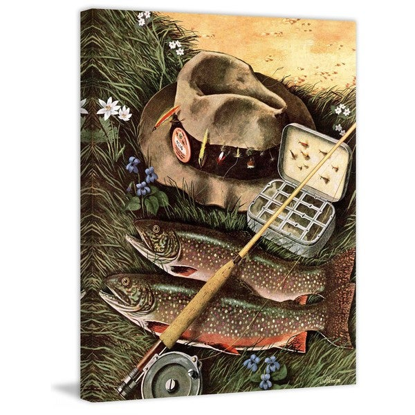 """Marmont Hill - """"Fishing Still Life"""" by John Atherton Painting Print on Canvas"""