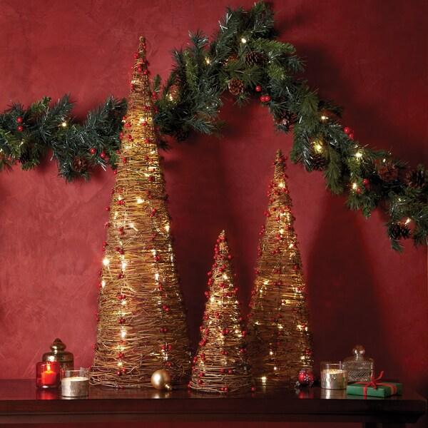 Apothecary & Company 3-Piece LED Twine Trees