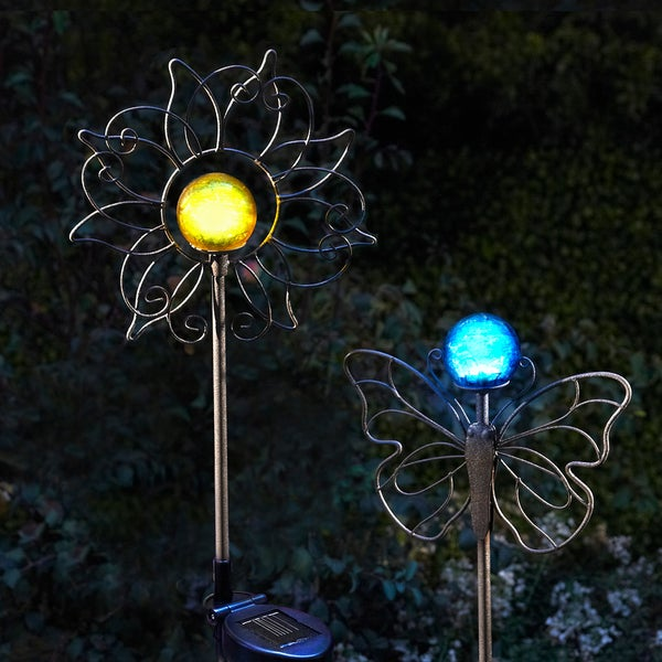 Order Home Collection 2-Piece Sun and Butterfly Solar Garden Stakes
