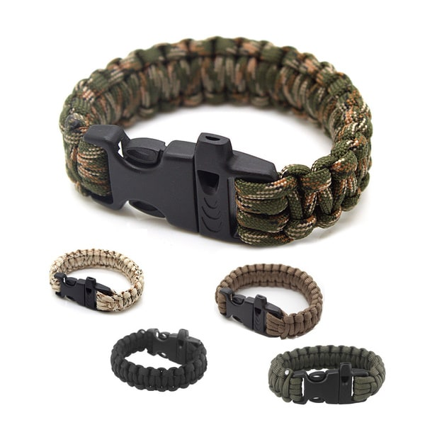 SAS 550-pound Paracord Survival Bracelet with Whistle