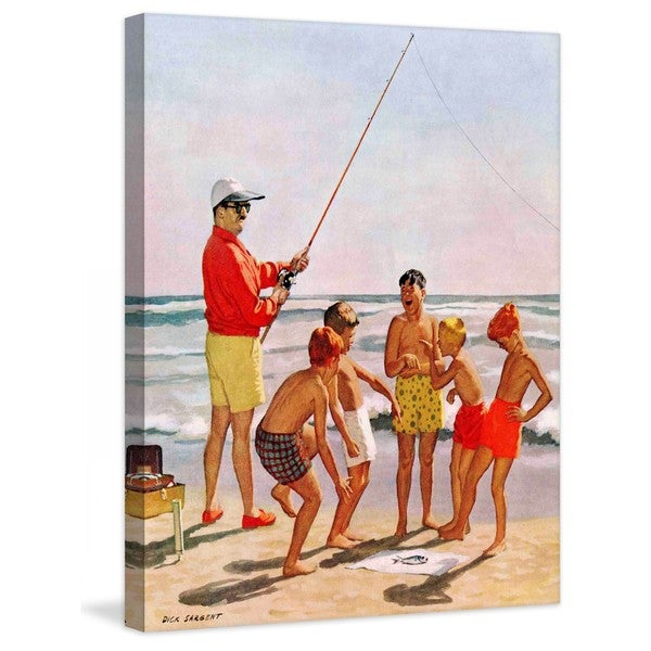 "Marmont Hill - ""Big Pole Little Fish"" by Richard Sargent Painting Print on Canvas"