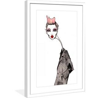 "Marmont Hill - ""Garconne"" by Jaime Lee Reardin Fashion Illustrator framed art print"